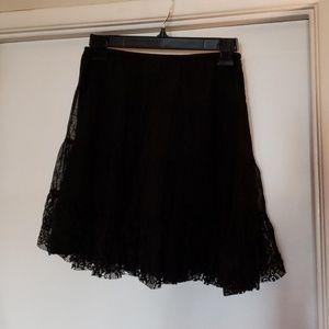 Free People mini lace skirt